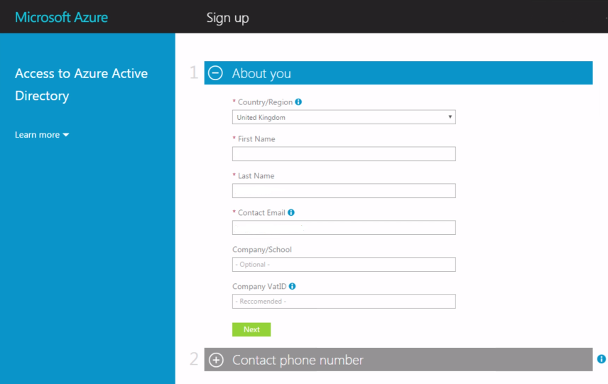 azure-ad-sign-up