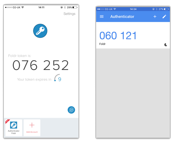 Two Factor Authentication (2FA) - Foldr Support