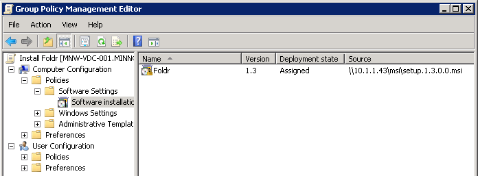 Deploying the Windows app with Group Policy - Foldr Support