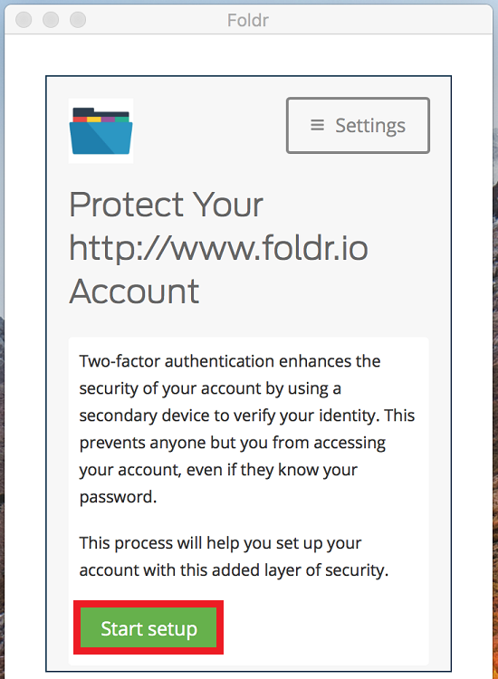 Duo Two Factor Authentication - Foldr Support